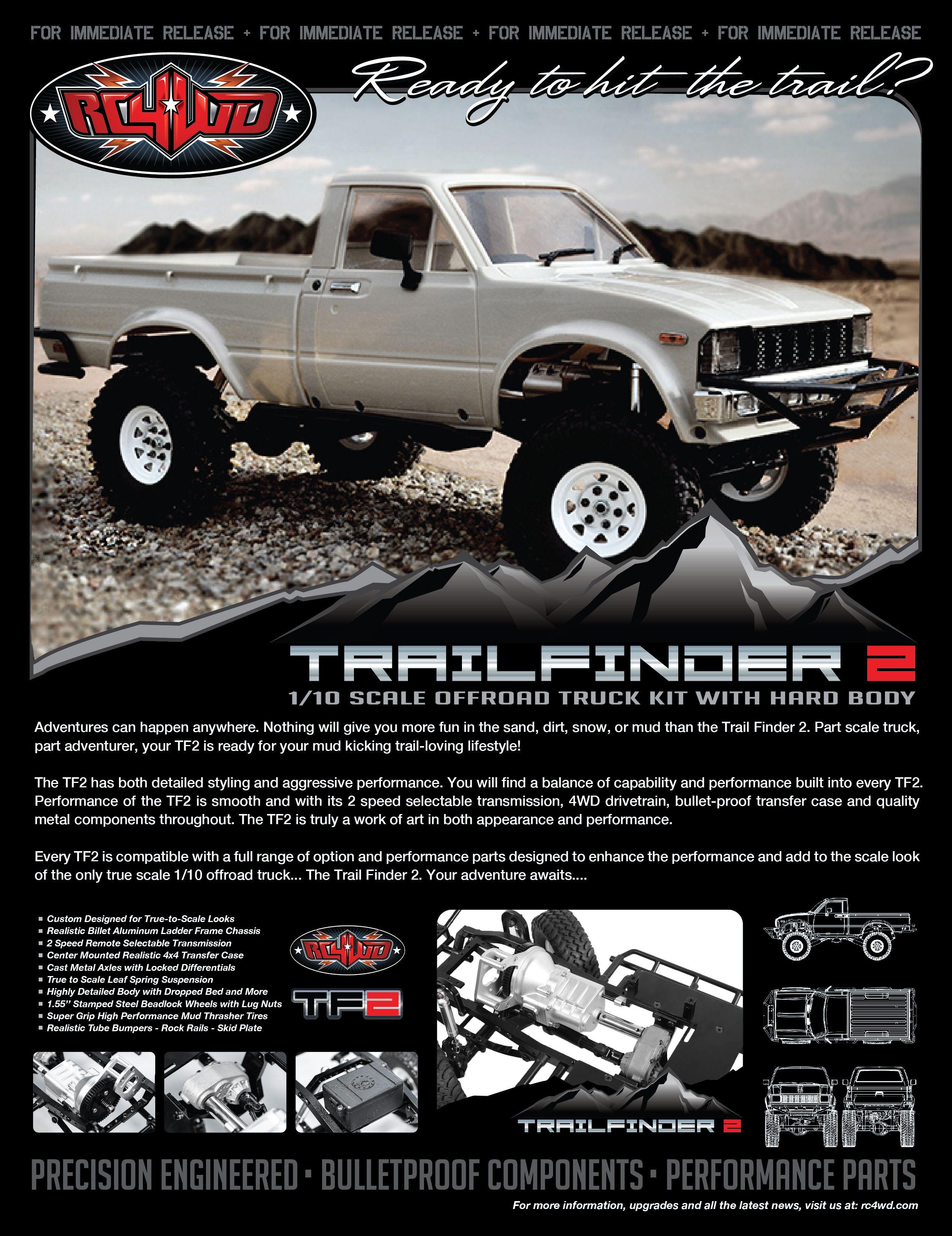 RC4WD Trail Finder 2 Truck Kit w/Mojave II Body Set   Scale models ...