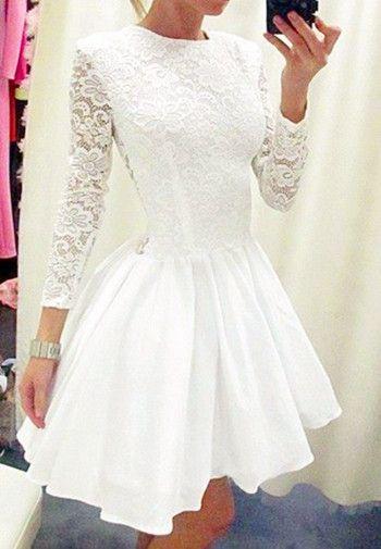 02a1011699a White Homecoming Dress