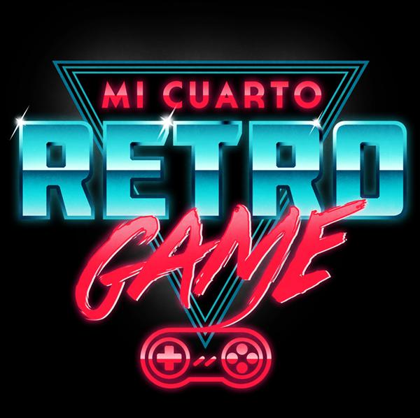 Mi Cuarto Retro Game Logo on Behance Design Pinterest