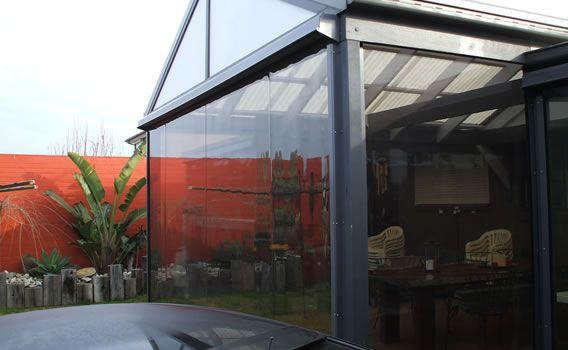 Slidetrack clear PVC blind   Cafe blinds, Pvc blinds ...