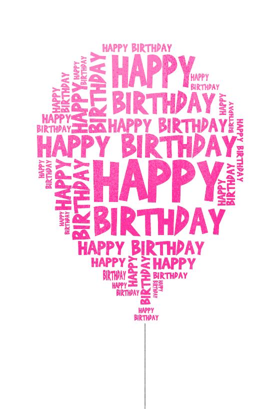 Happy Birthday Balloon Birthday Card Free Best Happy