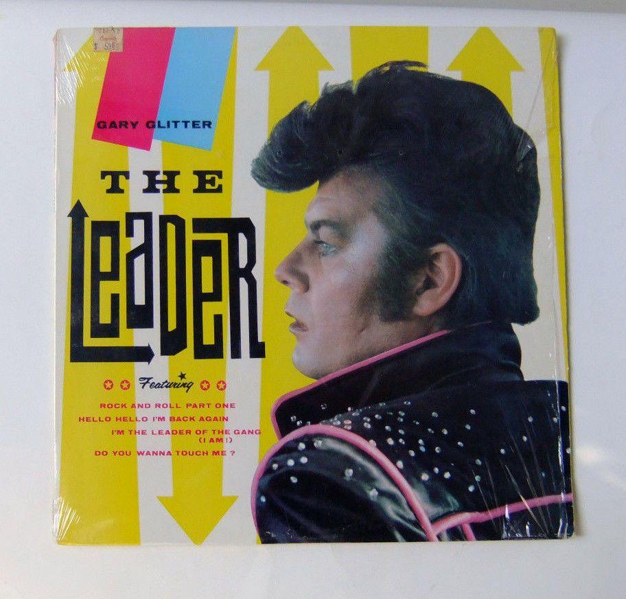 Gary Glitter The Leader 1984 Glam Rock Nm Epic Records 5e 39299 Rock Vinyl Records Lp Vinyl Glam Rock
