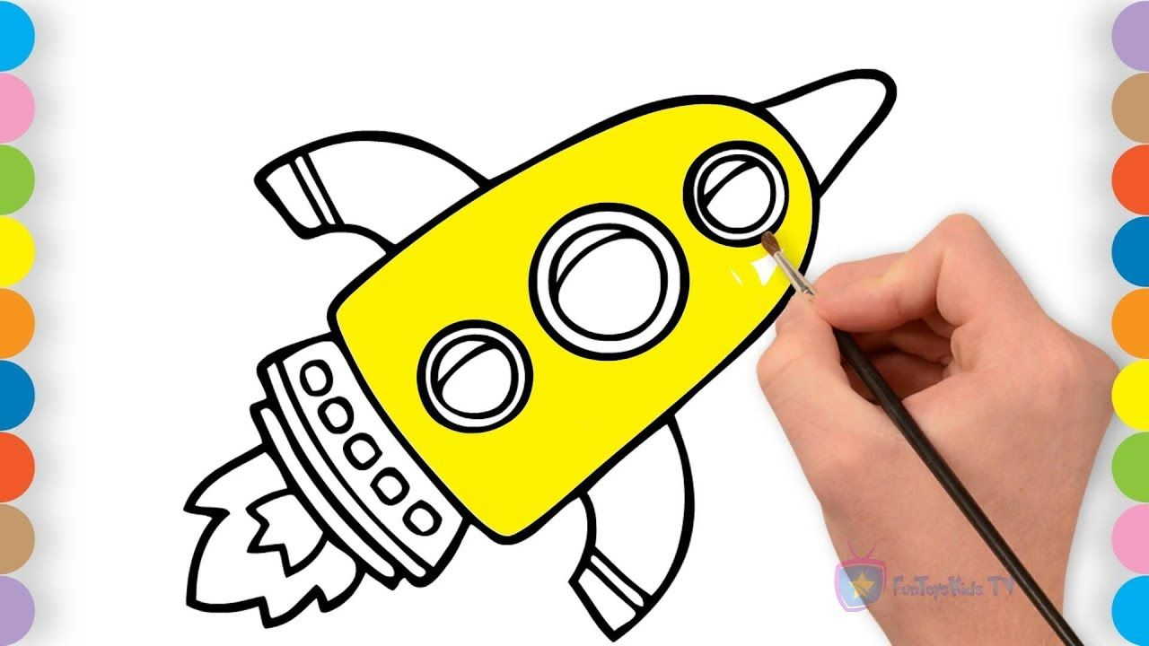 Children Coloring Videos How To Draw Rocket Kids Coloring Pages Coloring Pages For Kids Rockets For Kids Coloring For Kids