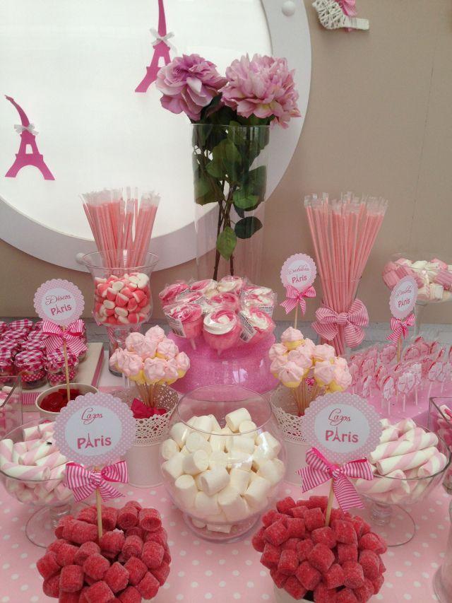 Candy bar para bodas ideas para una mesa dulce y salada - Adornos con golosinas ...