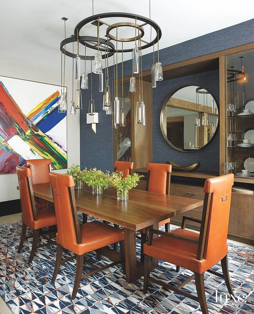 Orange Dining Chairs Add A Nice Pop Of Color To This Manhattan Pleasing Orange Dining Room Table Inspiration