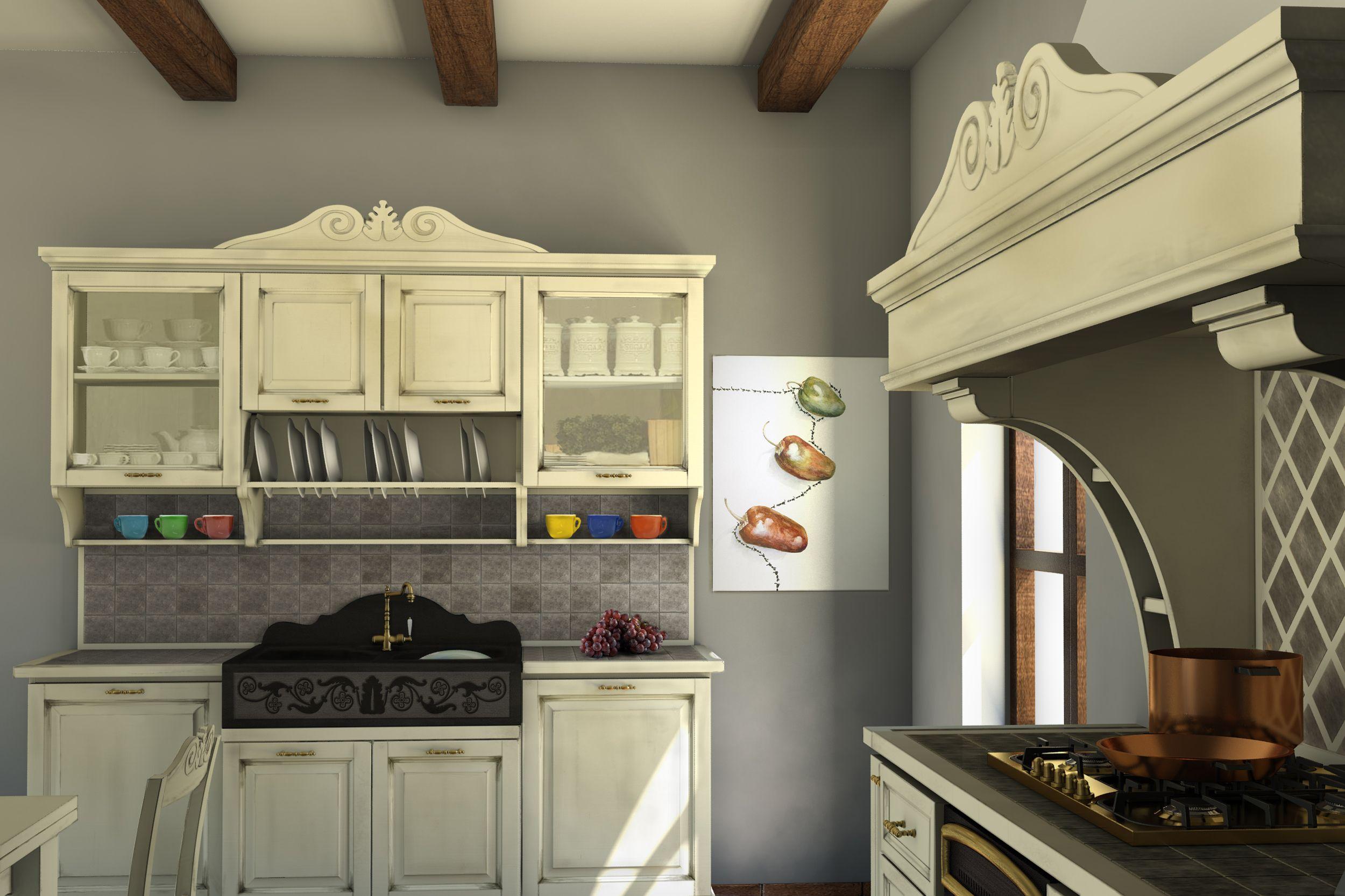 Blocco lavello e blocco cucina. artigianato legno