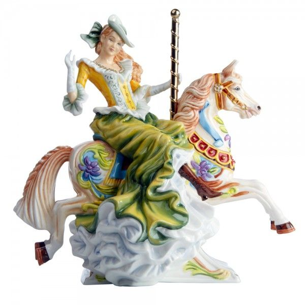 All The Fun of The Fair – Gold Colorway (From the Carousel Collection) – English Ladies Company Figurine 1