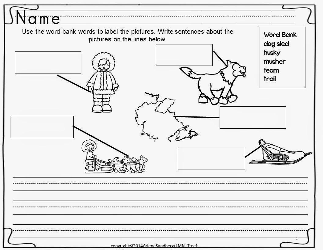 Iditarod Writing Activity Packet Writing Activities Social