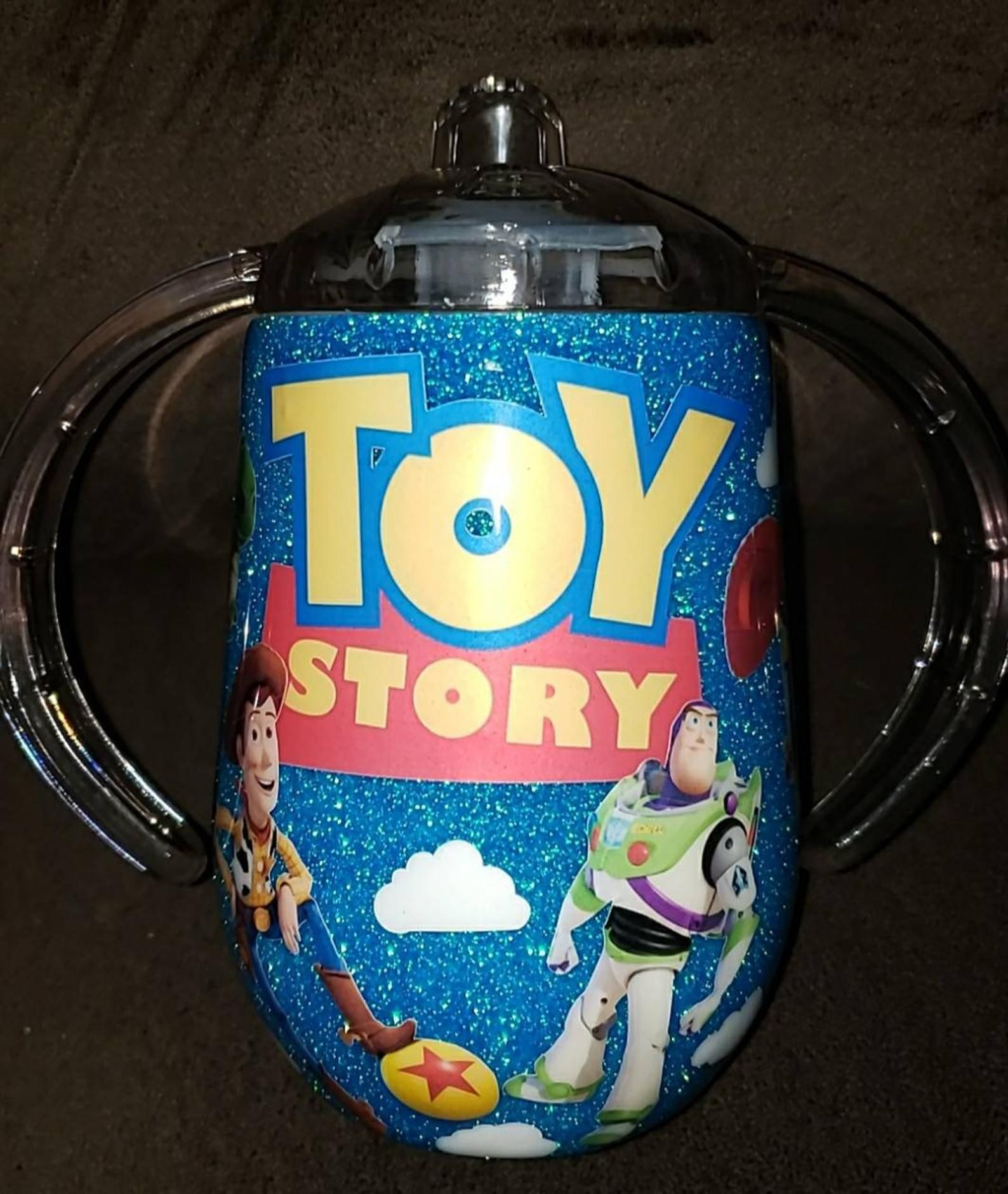 Toy Story Sippy Cup Etsy In 2020 Sippy Cup Personalized Starbucks Cup Custom Tumbler Cups