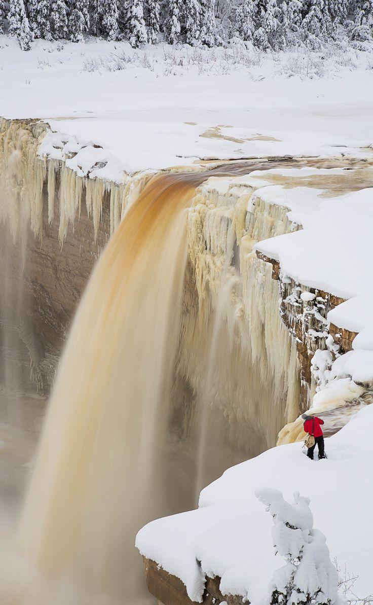 Alexander Falls in the Hay River, Northwest Territories, Canada