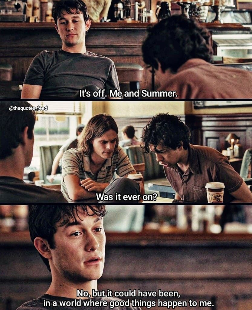 Movie 500 Days Of Summer With Images Movies Quotes Scene