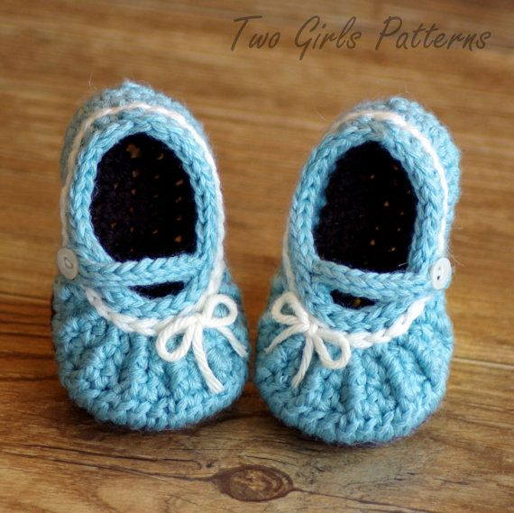 Crochet Pattern Mary Janes Shoes | Baby Booties | Pinterest ...