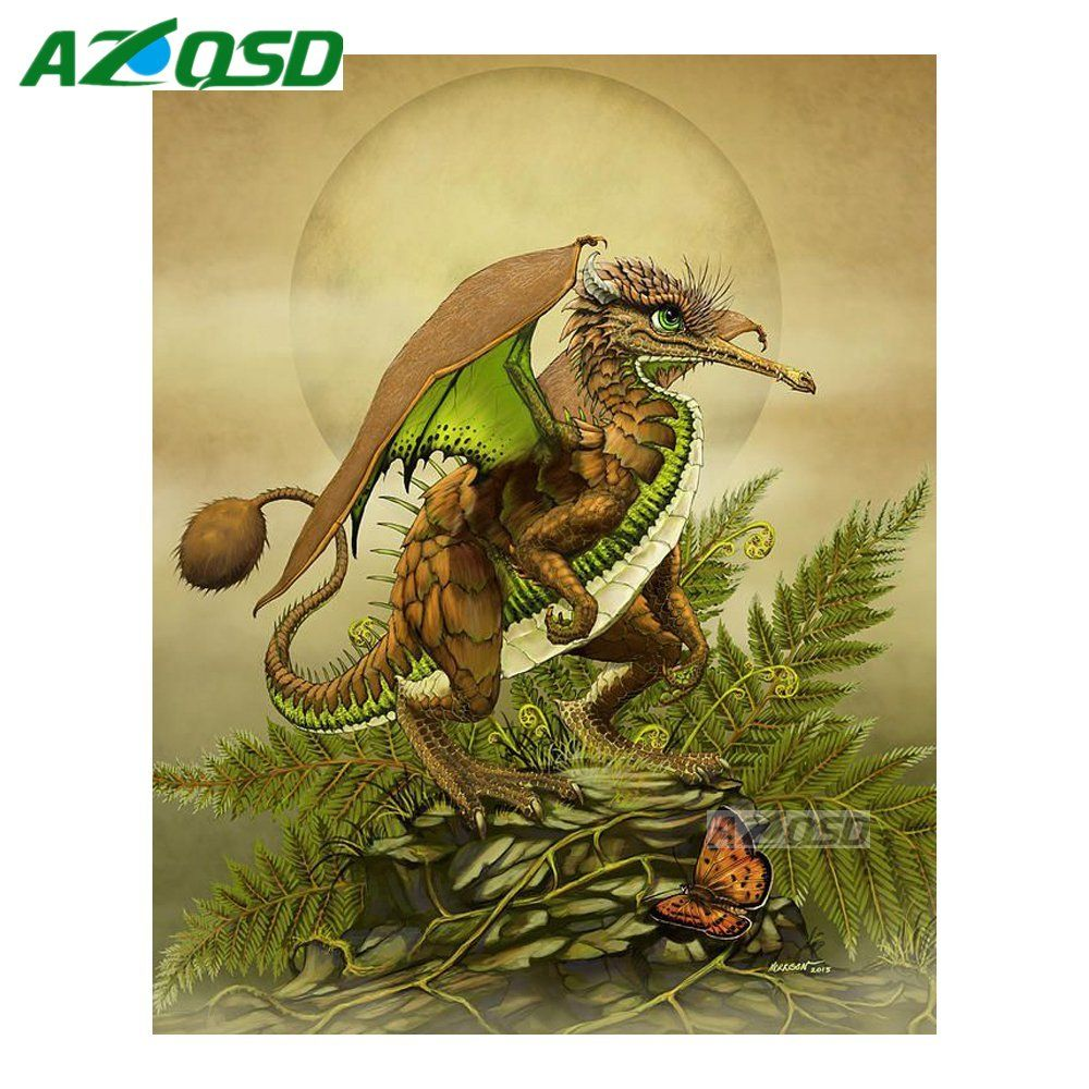 AZQSD DIY Diamond Painting Cross Stitch Kits Wall Decor Full Round ...
