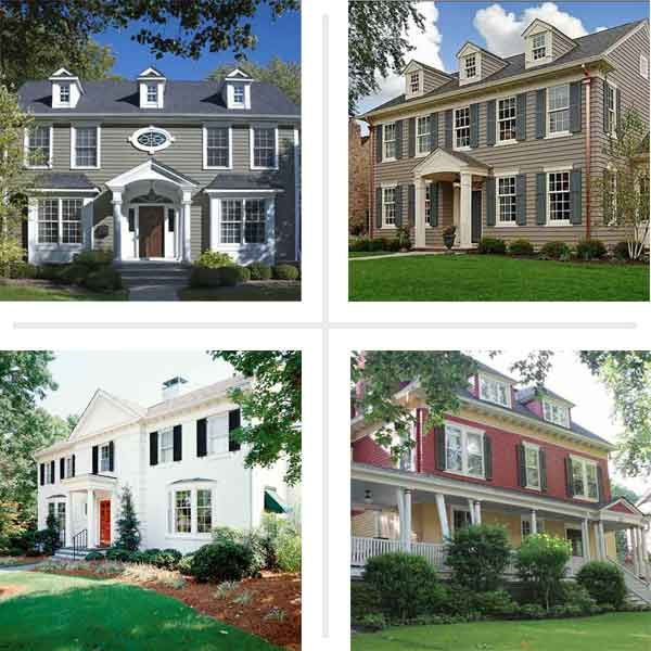Paint Color Ideas For Colonial Revival Houses Exterior: bold house colors