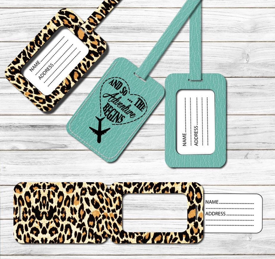 Luggage Tag Pattern Svg Dxf Png Template For Cricut Silhouette
