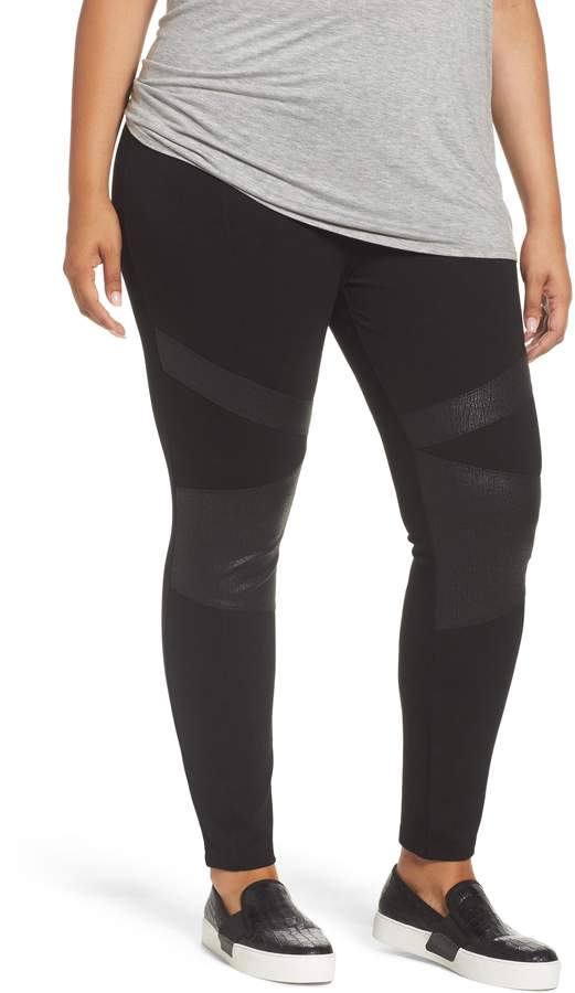 04ba698fdabbb2 Vince Camuto Lacquer Inset Moto Leggings | Products in 2019 | Knit ...