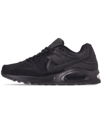 ed94b878fc Nike Men's Air Max Command Leather Casual Sneakers from Finish Line - Black  11.5