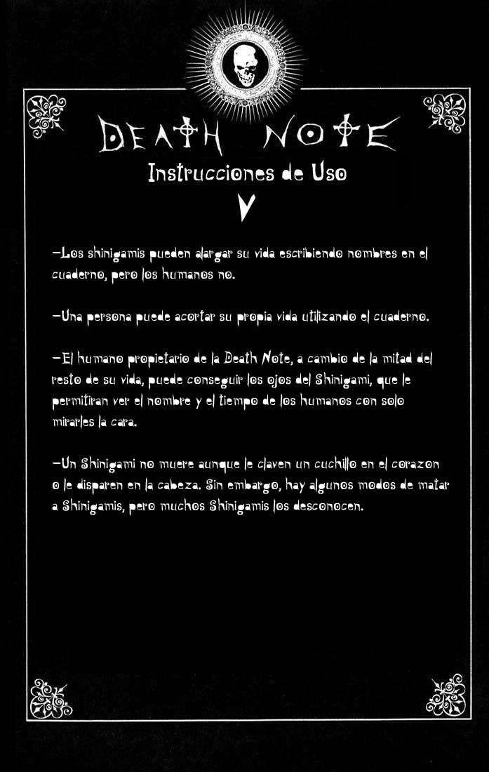 Reglas De Uso Death Note Capitulo 0 Pagina 6
