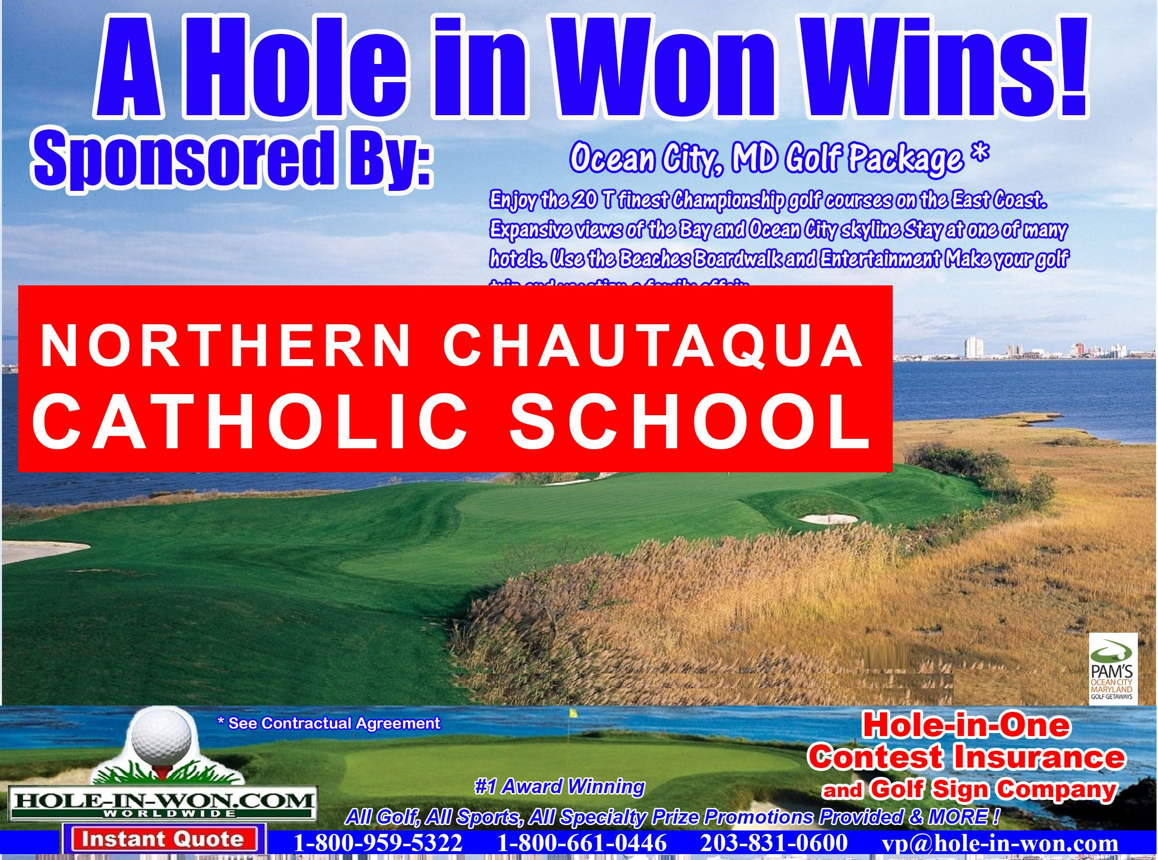 School Benefit Golf Outings Hole In One Insurance Putting Contests