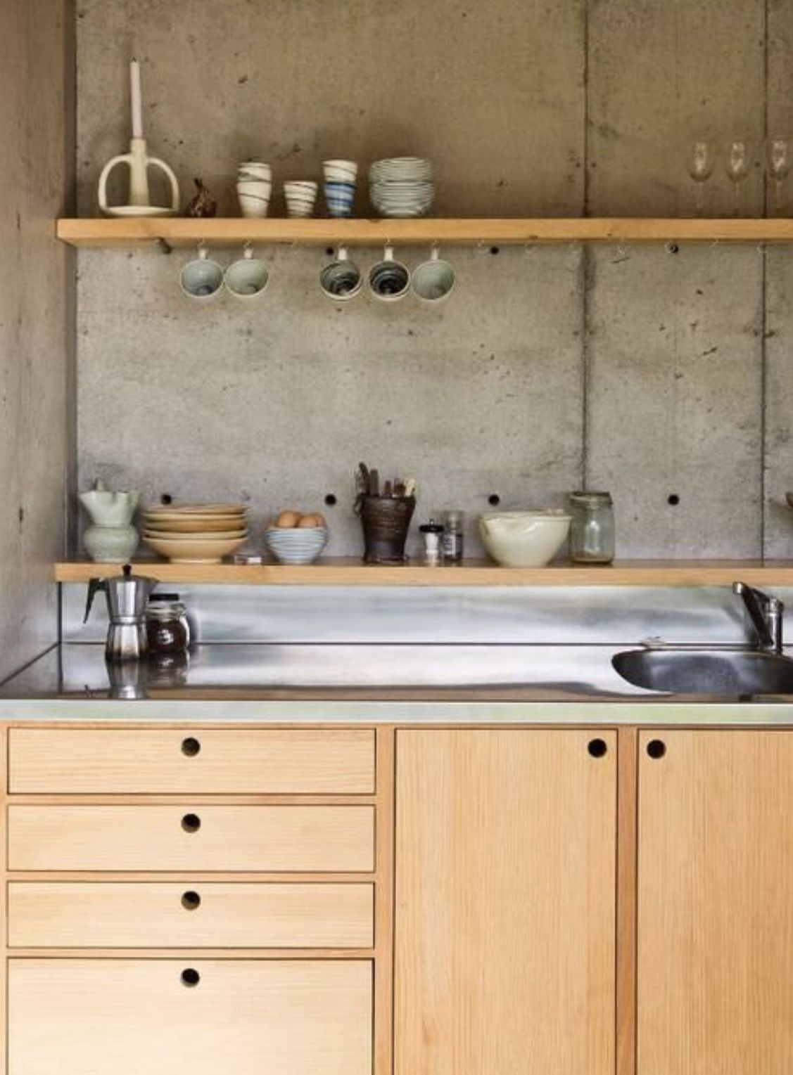 Pin by Jacqueline on the black pearl   Plywood kitchen ...