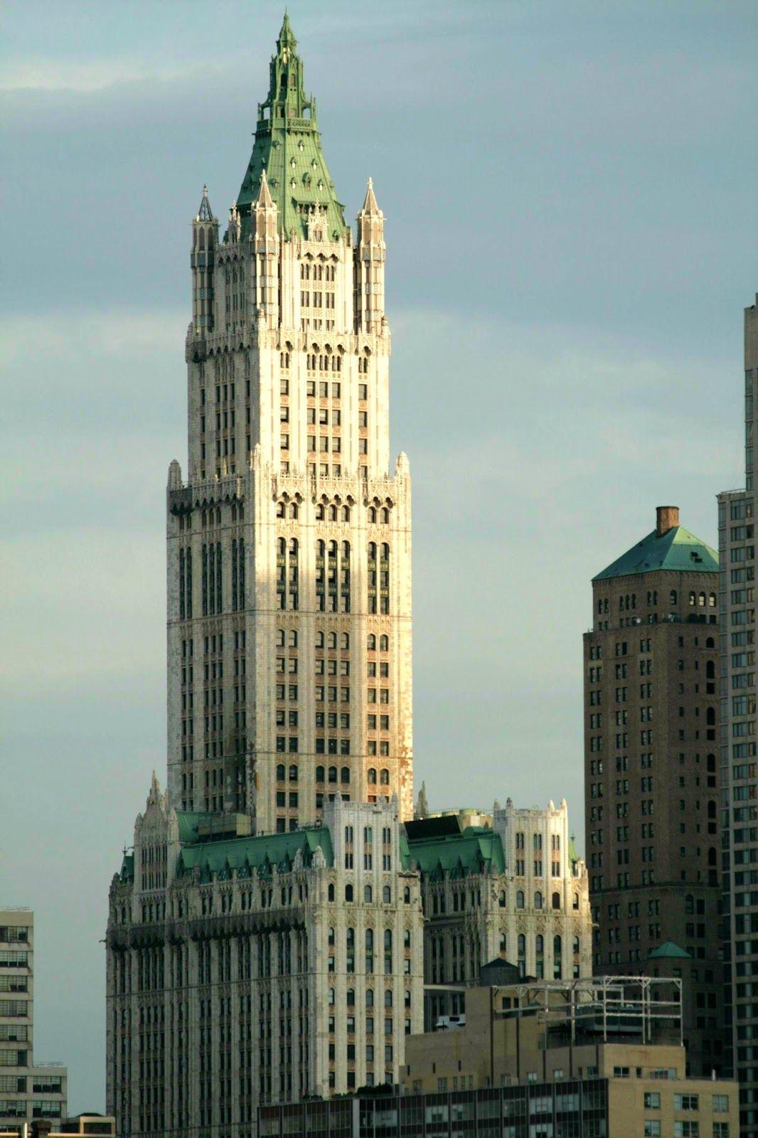 el edificio woolworth nueva york su construccin termin en y fue diseado por