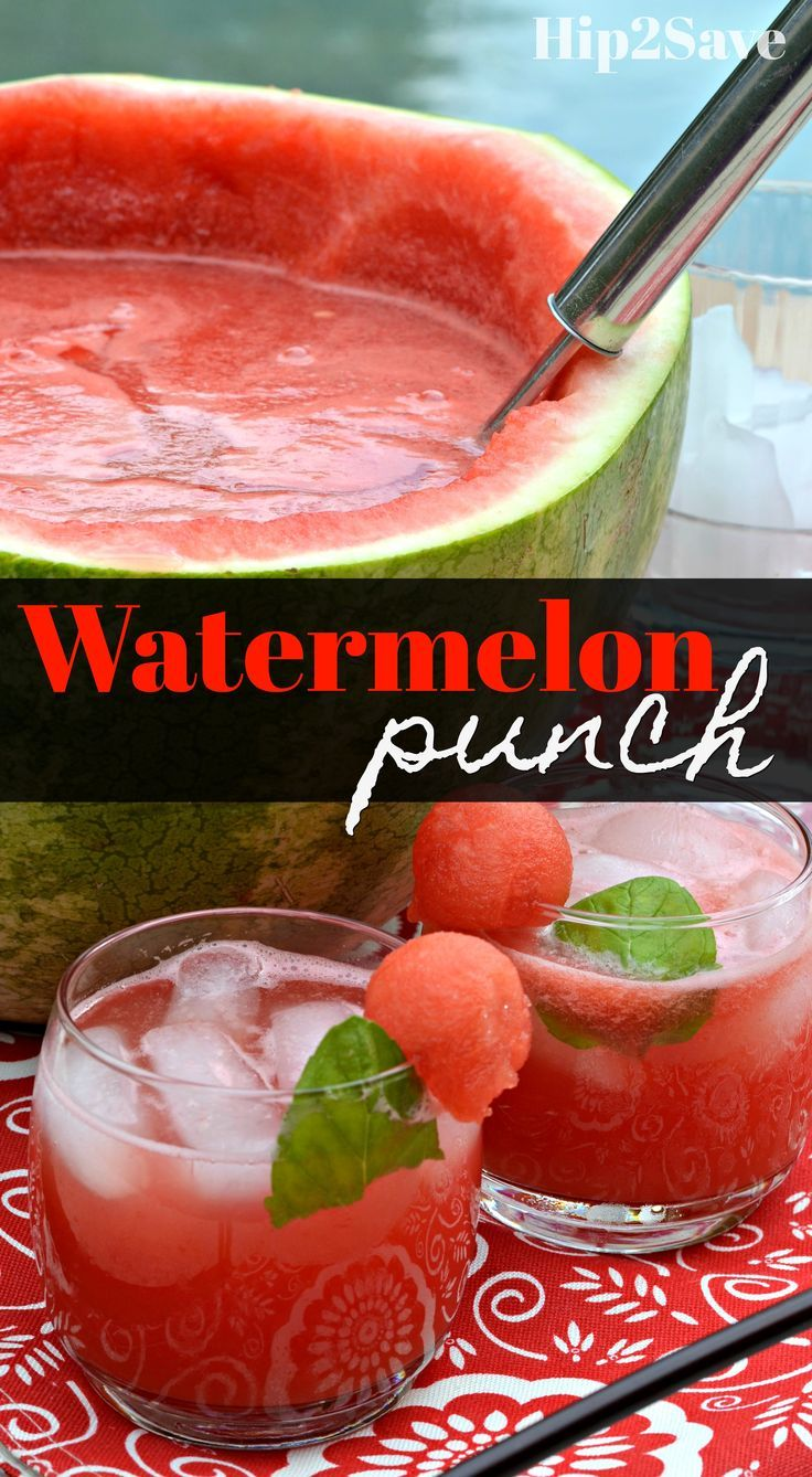 Summer Watermelon Punch Recipe - Hip2Save