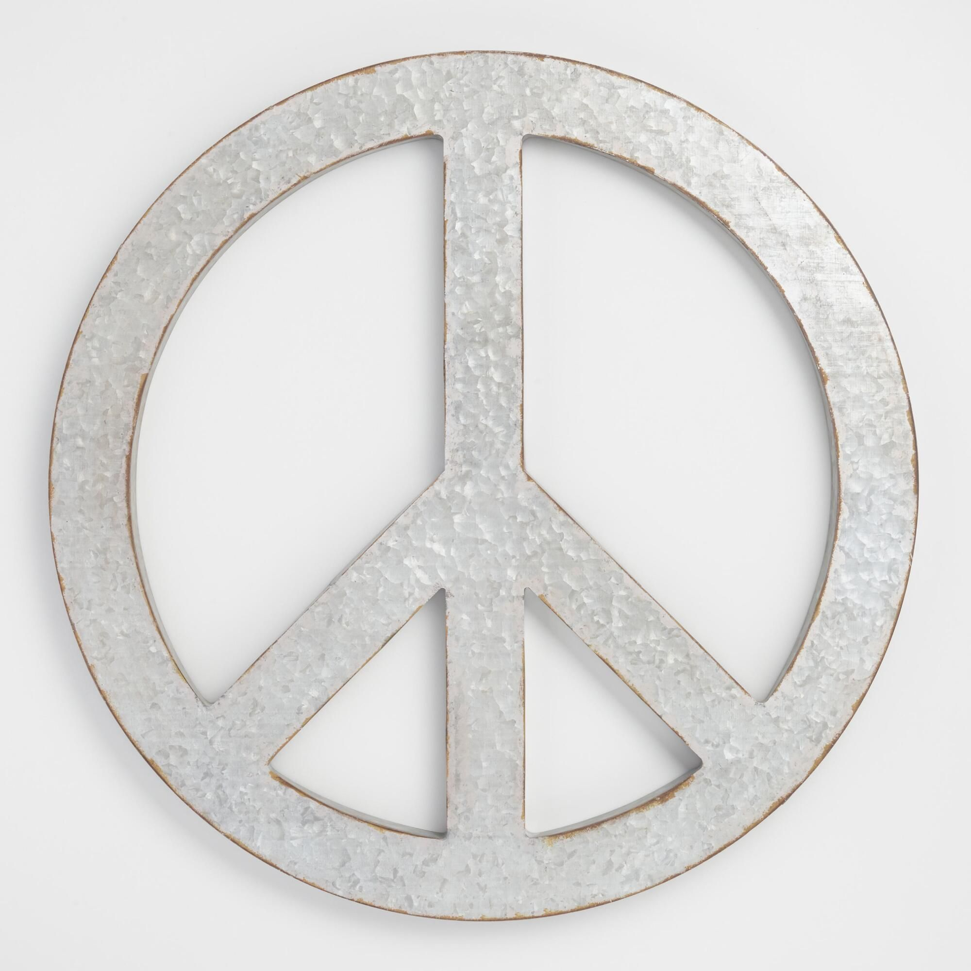 Galvanized Metal Peace Sign Wall Art By World Market In 2019