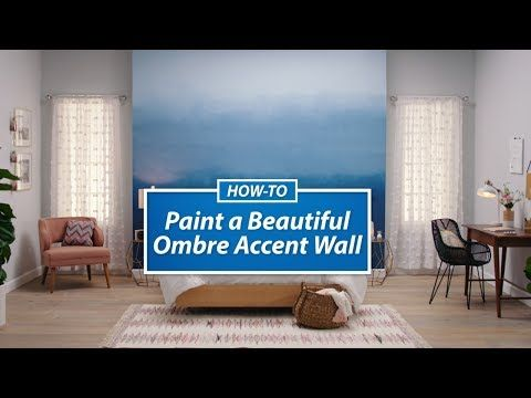 How To Paint A Beautiful Ombre Accent Wall Sherwin Williams Wall Art
