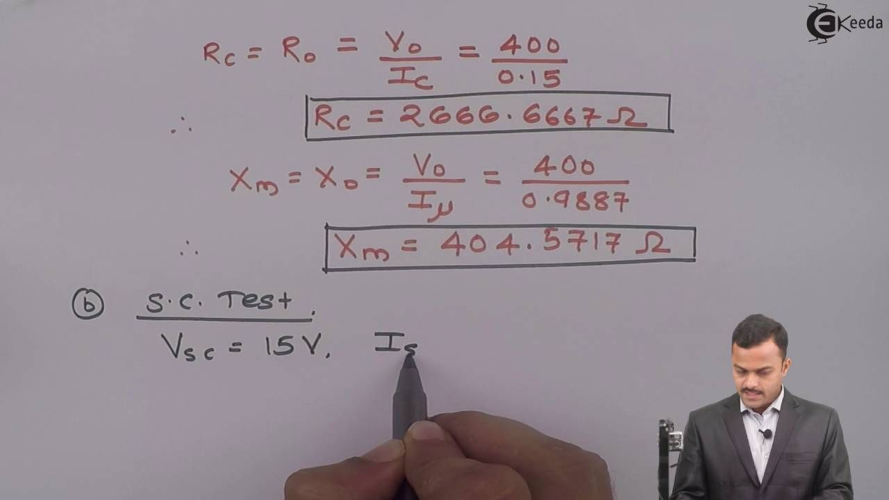 Learn Online Open Circuit Short Tests On Transformer Probl