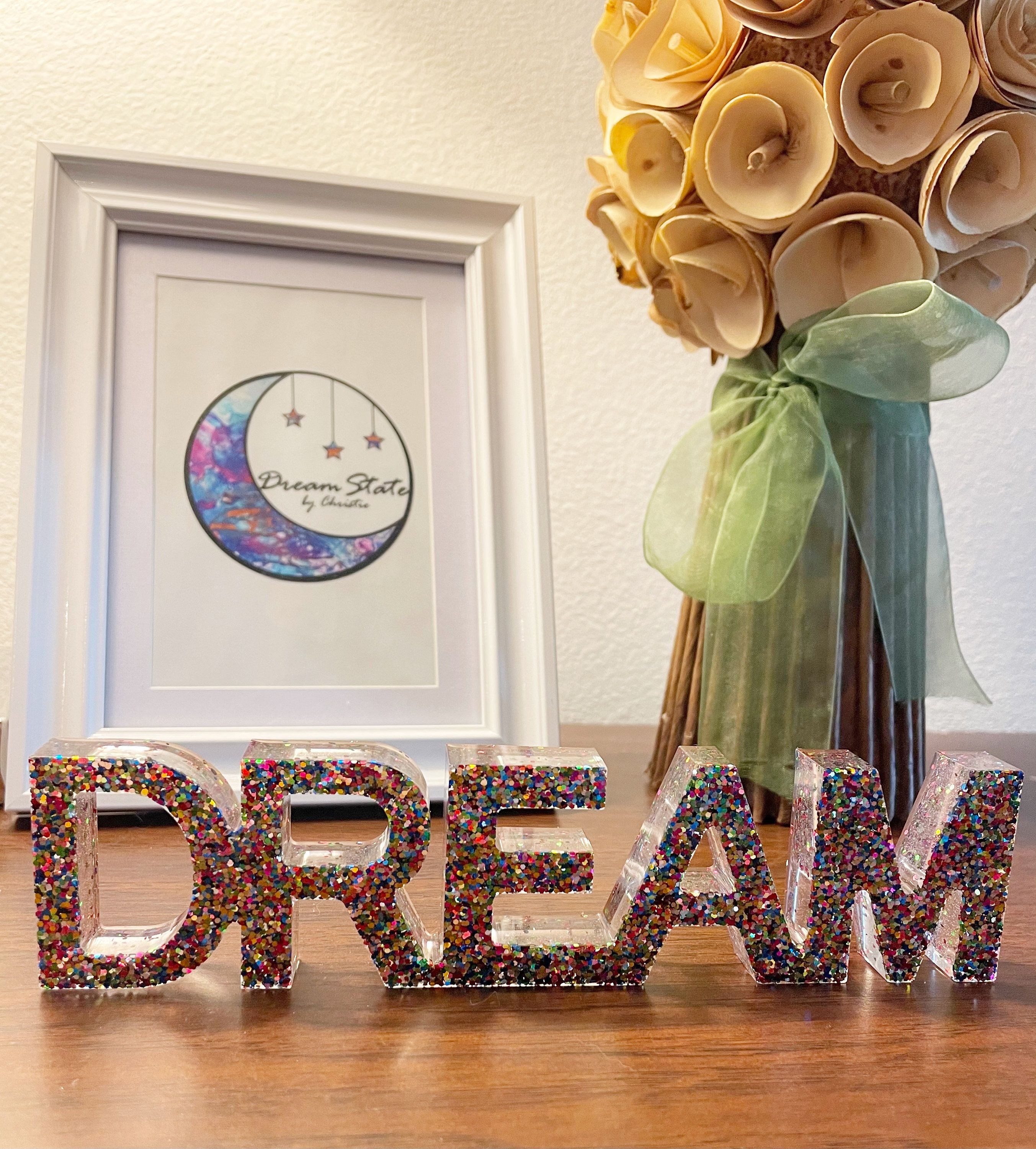 Excited to share this item from my #etsy shop: Dream - Handmade table top decor #homedecor #accentpiece #dream #glitter #resin #original #oneofakind #gift #stockingstuffer