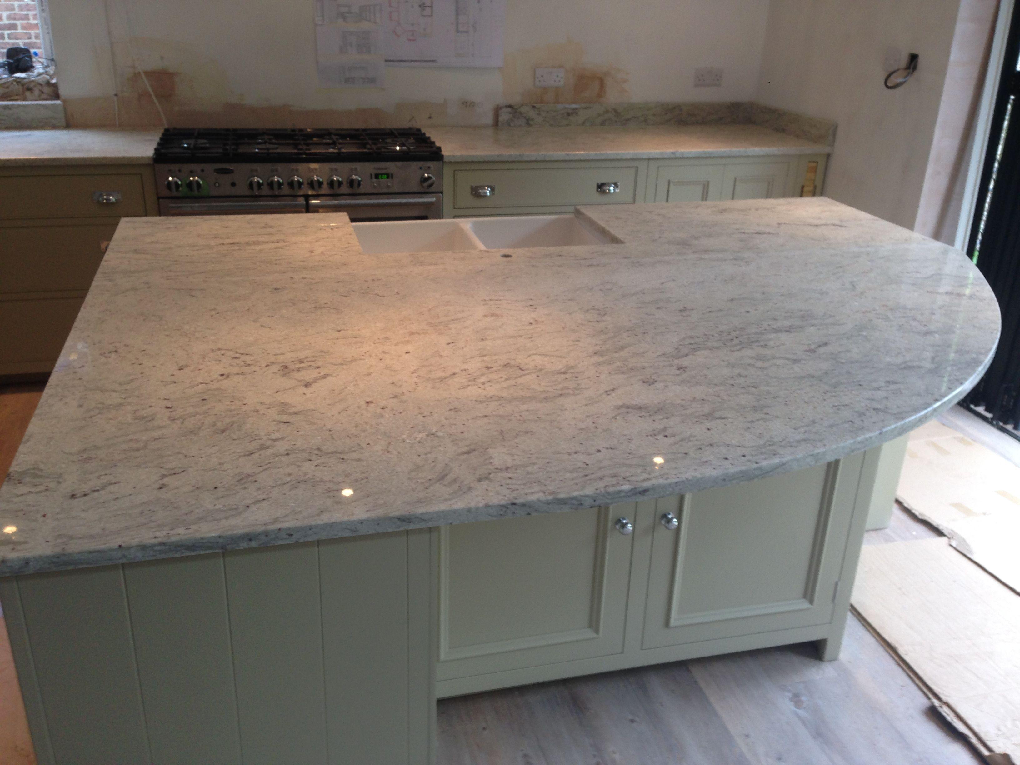 White Granite Kitchen Worktops This Gorgeous River Valley White Granite Solid Kitchen Worktop Is