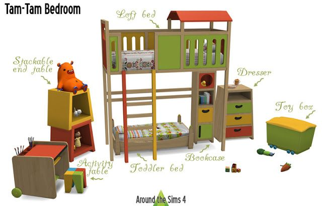 Sims 4 cc 39 s the best kidsroom by around the sims 4 sims 4 cc 39 s the best pinterest - Sims 3 babyzimmer ...