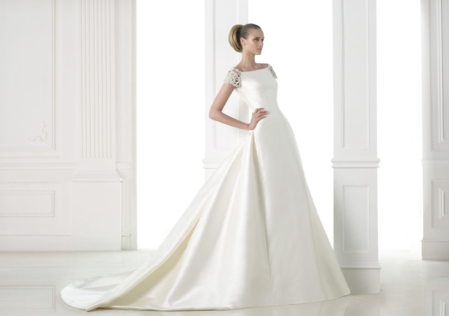 A Line Wedding Dress: Mikado Silk, A-line Wedding Dress. Collection
