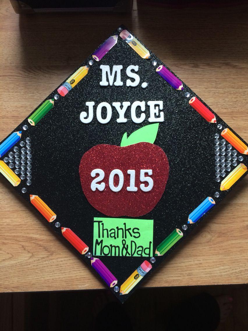 Decorating graduation cap ideas for teachers - Teacher Graduation Cap Graduation Cap College