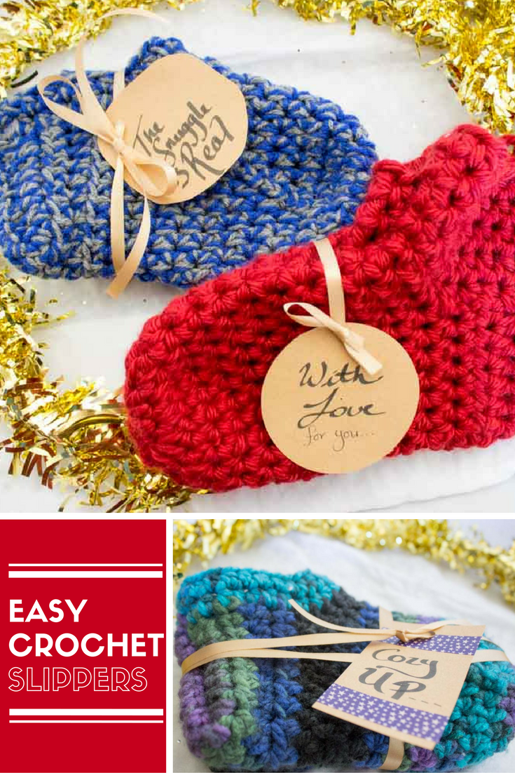 Easy crochet slippers easy crochet slippers crocheted slippers keep your toes warm and toasty some fun and easy crochet slippers a free pattern bankloansurffo Choice Image