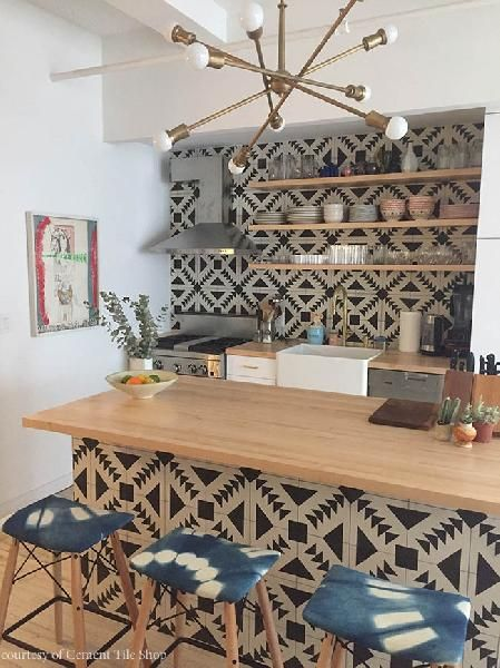 Tulum Terrazzo from Cement Tile Shop | Open shelving