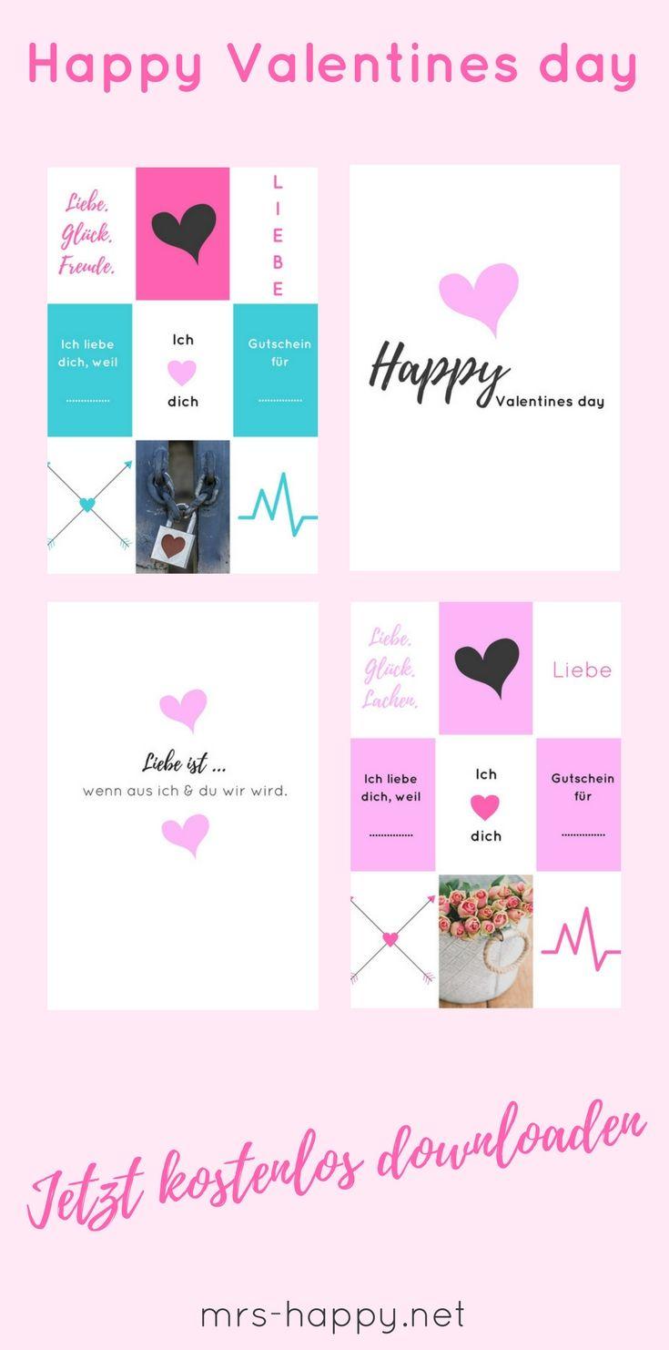 Happy Valentines Day! Kostenlose Vorlagen für dich zum Downloaden ...