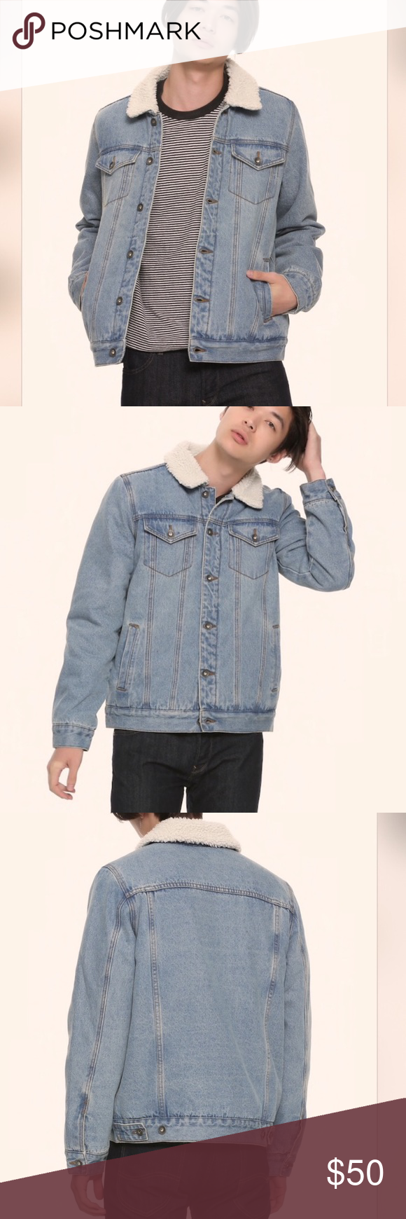 Baggy denim Sherpa jean trucker jacket This coat is ...