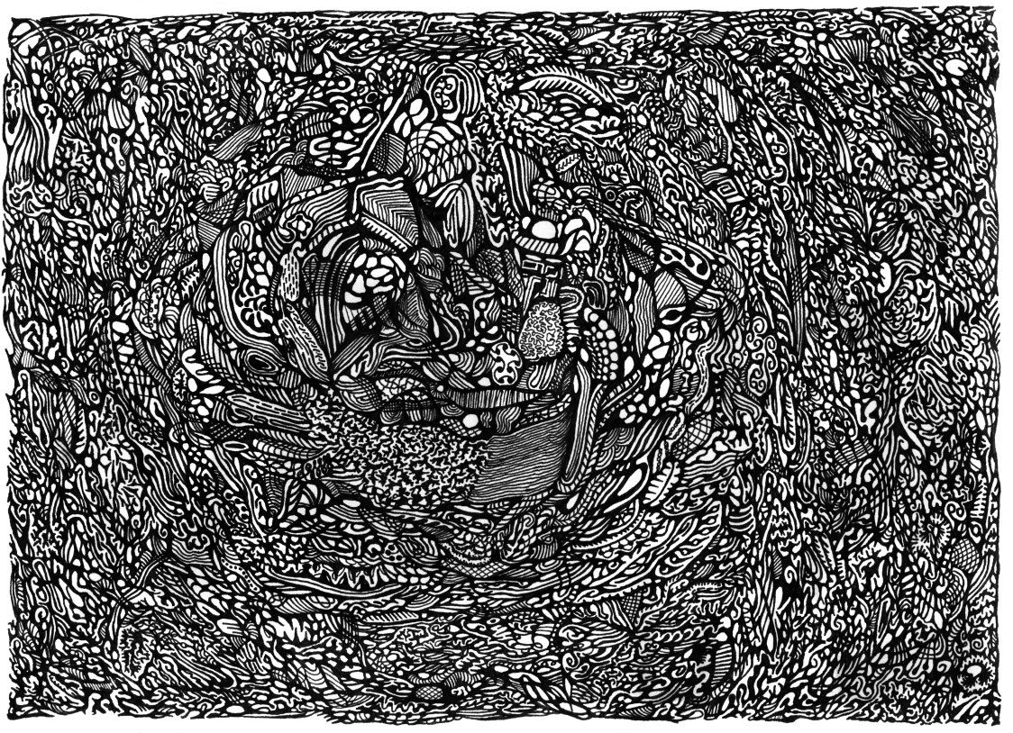 abstract pen and ink drawings abstract gel pen 31 by