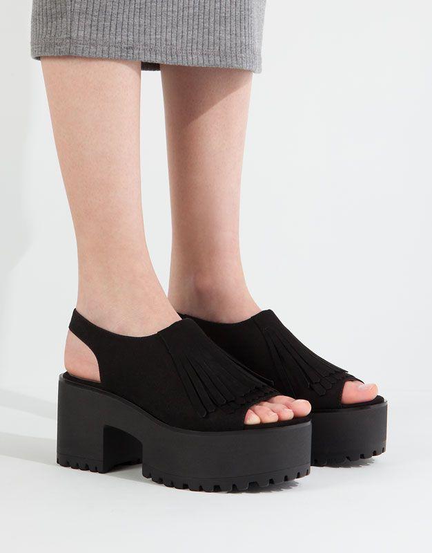 pull & talons bear femme chaussures sandales à talons & hauts des franges dd68db