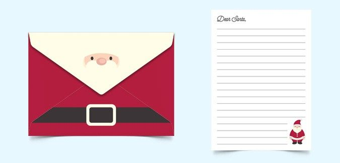 Santa Envelopes Templates - Design Templates