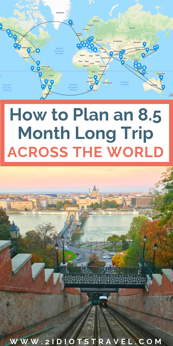 How do you plan an 8.5 month trip across the world?