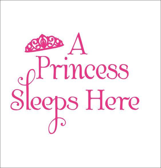 A Princess Sleeps Here Vinyl Wall Decal by CustomVinylbyBridge