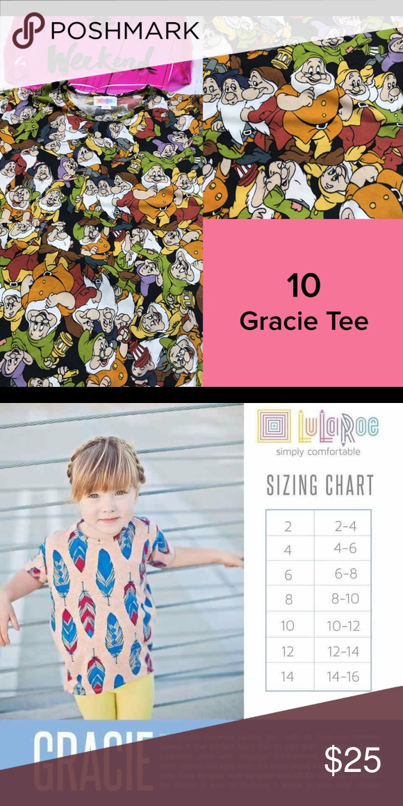 70b71719c48d3 SaleSeven Dwarfs Disney Gracie Top Size 10 LuLaRoe Disney High Low Top New  with tags LuLaRoe Shirts & Tops Tees - Short Sleeve