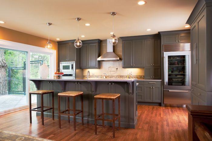 Warm And Grey Kitchen Cabinets Ideas Grey Painted Kitchen Grey Kitchen Teal Kitchen Cabinets