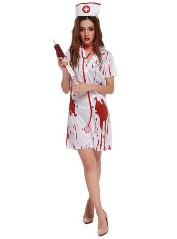 Terror Zombie Nurse Uniform Halloween Ghost Costume Costume ideas - halloween ghost costume ideas