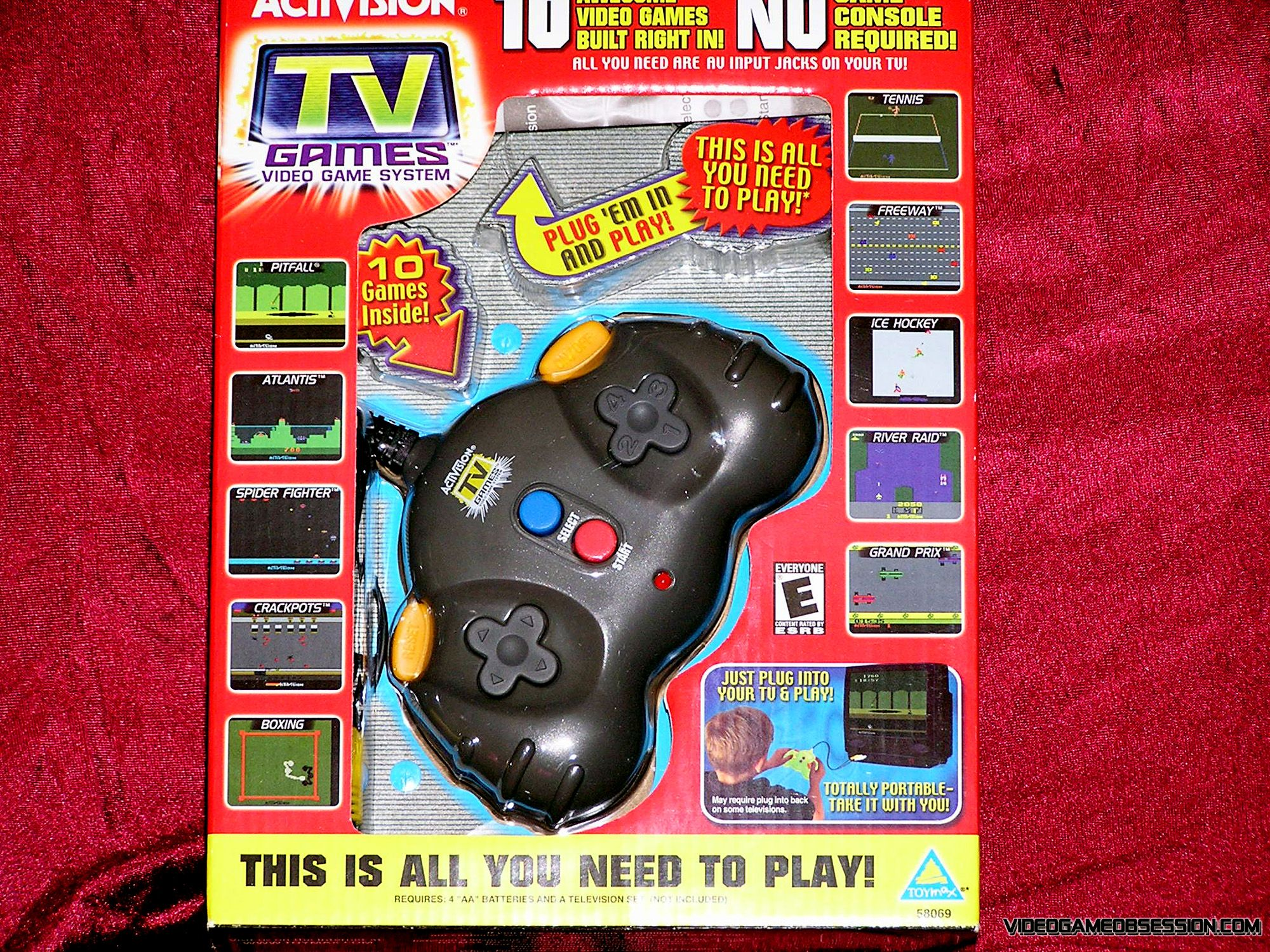 Tv Games Plug Into : The activision in tv games plug n play black