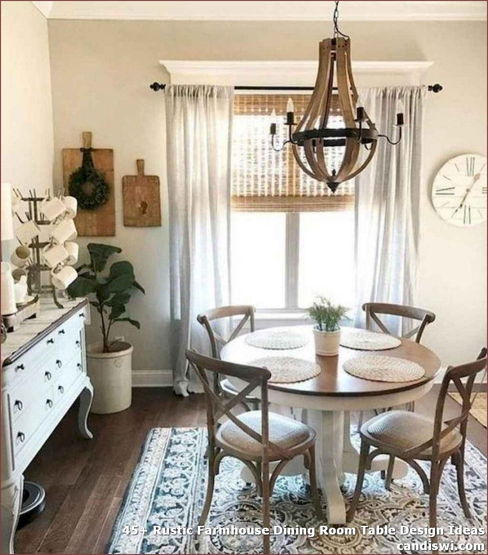 12 Rustic Dining Room Ideas: 45+ Rustic Farmhouse Dining Room Table Design Ideas