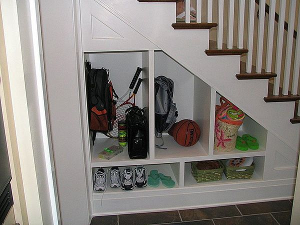 Ideas For Space Under Stairs Paperblog Shelves Under Stairs Staircase Storage Space Under Stairs