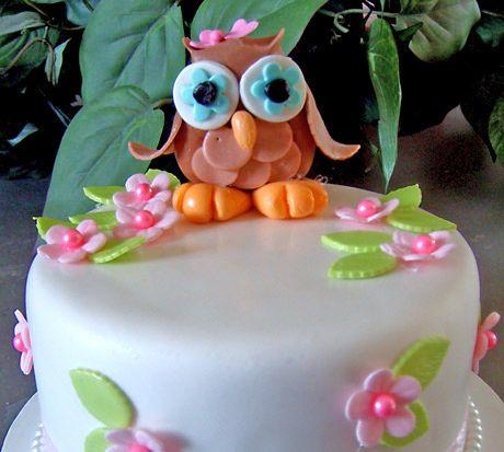 Fondant Owl Cake Topper Kit, only $19.99! | andRuby #owl #fondant #cake #topper